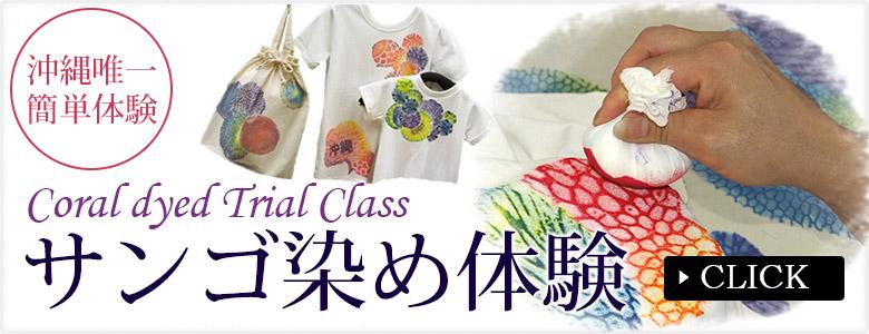 沖縄で唯一のサンゴ染め体験、団体利用・団体貸切可能、旅の思い出に作る美しい染め物